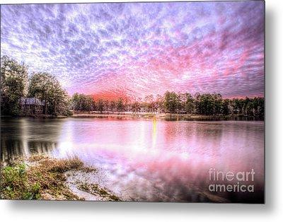 Sunset On Flint Creek Metal Print