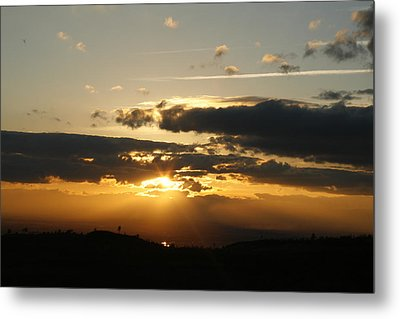Sunset On Hwy 32 Metal Print