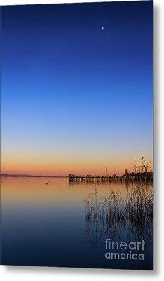 Sunset On Lake Constance II Metal Print by Bernd Laeschke