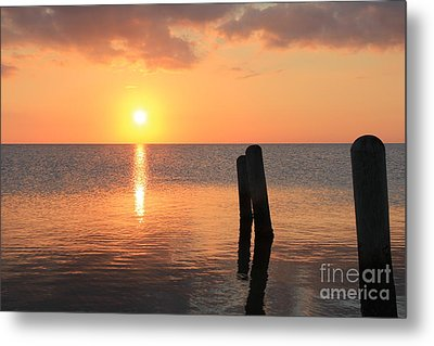 Metal Print featuring the photograph Sunset On Pimlico Sound by Laurinda Bowling