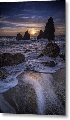 Sunset On Rodeo Beach Metal Print by Rick Berk