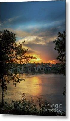 Sunset On The Arkansas Metal Print