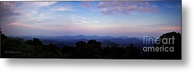 Sunset On The Blue Ridge Metal Print