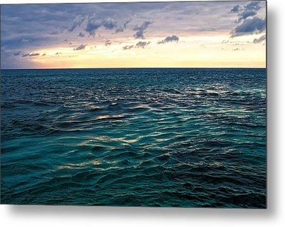 Sunset On The Caribbean Metal Print
