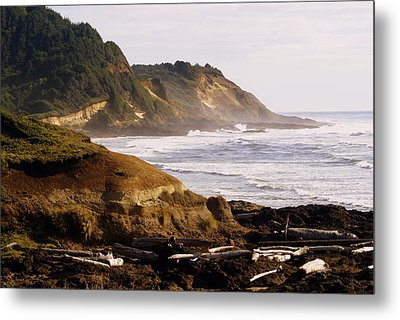 Sunset On The Coast Metal Print by Marty Koch