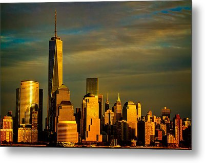 Sunset On The Financial District Metal Print
