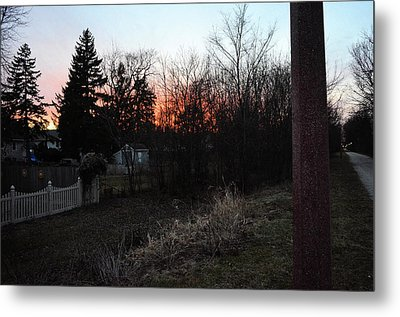 Metal Print featuring the relief Sunset On The Great Western Trail by Jeanette O'Toole