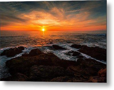 Sunset On The Horizon Metal Print