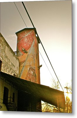 Sunset On The Mill Metal Print