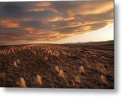 Sunset On The Ridge Metal Print by James Steele