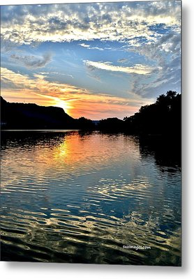 Sunset On The River Metal Print