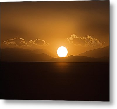 Metal Print featuring the photograph Sunset On The Salar by Ron Dubin