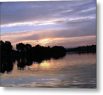Sunset On The Snake Metal Print