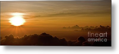 Sunset On Top Of Haleakala Metal Print by Denis Dore