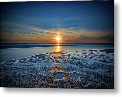 Sunset On West Meadow Beach Metal Print by Rick Berk