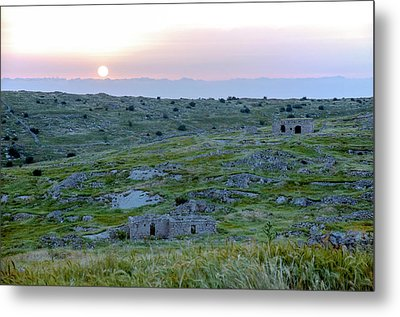 Sunset Over A 2000 Years Old Village Metal Print by Dubi Roman
