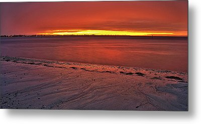 Sunset Over Anna Maria Island Metal Print by Jim Dohms