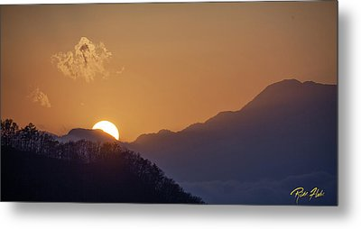 Metal Print featuring the photograph Sunset Over Asia  by Rikk Flohr