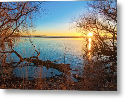 Sunset Over Barr Lake Metal Print
