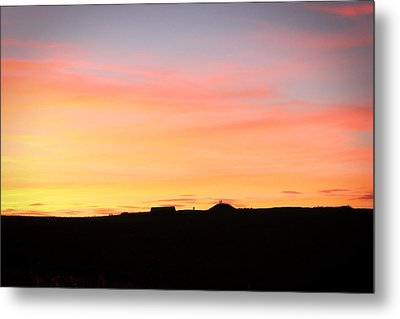 Sunset Over Cairnpapple Metal Print
