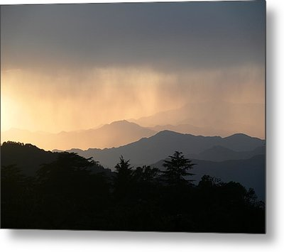 Sunset Over Chakrata Hills - 2 Metal Print by Padamvir Singh
