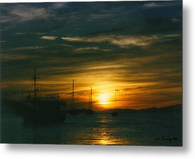 Metal Print featuring the photograph Sunset Over Isla Margarita by Maciek Froncisz