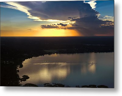 Metal Print featuring the photograph Sunset Over Lake by Carolyn Marshall