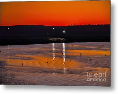Metal Print featuring the photograph Sunset Over Lake Texoma by Diana Mary Sharpton