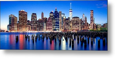 Magic Manhattan Metal Print by Az Jackson