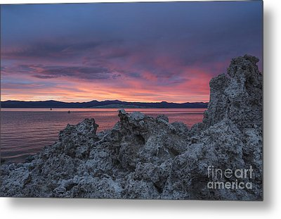 Metal Print featuring the photograph Sunset Over Mono Lake by Sandra Bronstein