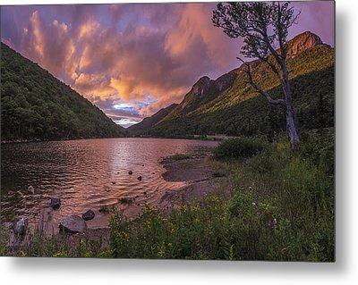 Sunset Over Profile Lake Metal Print