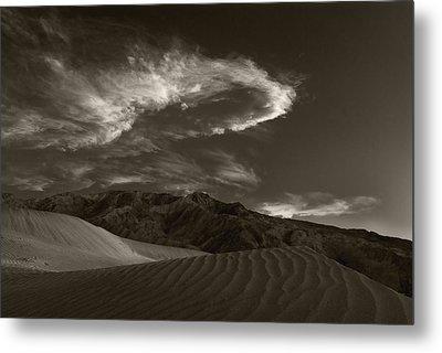 Sunset Over Sand Dunes Death Valley Metal Print by Steve Gadomski