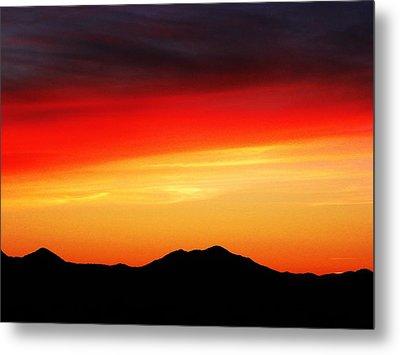Sunset Over Santa Fe Mountains Metal Print