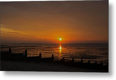 Sunset Over Sheppey 2 Metal Print