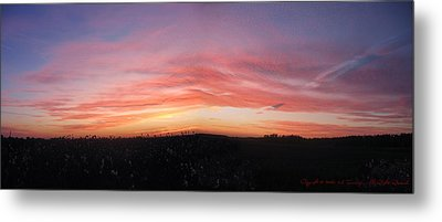 Metal Print featuring the photograph Sunset Over Sw Ontario P1 by Maciek Froncisz