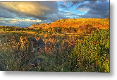 Sunset Over The Campsie Fells Metal Print