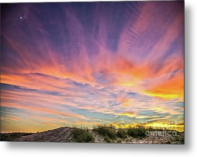 Metal Print featuring the photograph Sunset Over The Dunes by Vivian Krug Cotton