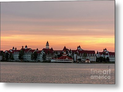 Sunset Over The Grand Floridian Metal Print