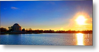 Sunset Over The Jefferson Memorial  Metal Print by Olivier Le Queinec