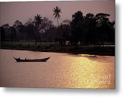 Sunset Over The Perfume River Metal Print by Sami Sarkis
