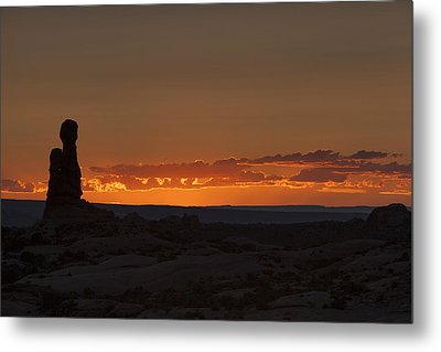 Sunset Over The Petrified Dunes Metal Print