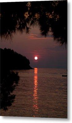 Sunset Over The Sea - Croatia Metal Print