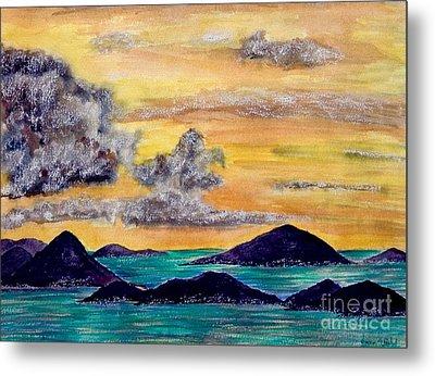Sunset Over The Virgin Islands Metal Print