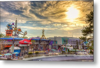 Sunset Over Tomorrowland Metal Print