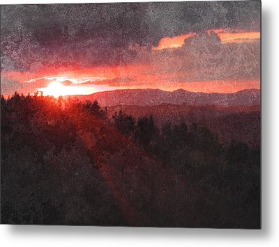 Sunset Over Umbria Metal Print by Dorothy Berry-Lound