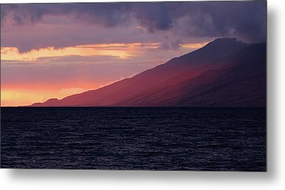 Sunset Over West Maui Metal Print