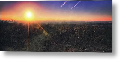 Metal Print featuring the photograph Sunset Over Wisconsin Treetops At Lapham Peak  by Jennifer Rondinelli Reilly - Fine Art Photography