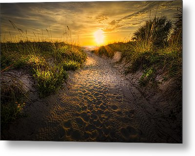 Sunset Path Metal Print by Marvin Spates
