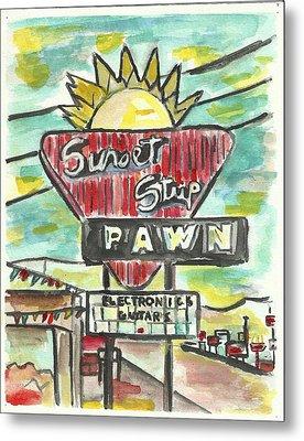 Sunset Pawn Metal Print by Matt Gaudian