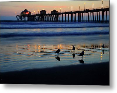 Sunset Pier Metal Print by Pierre Leclerc Photography